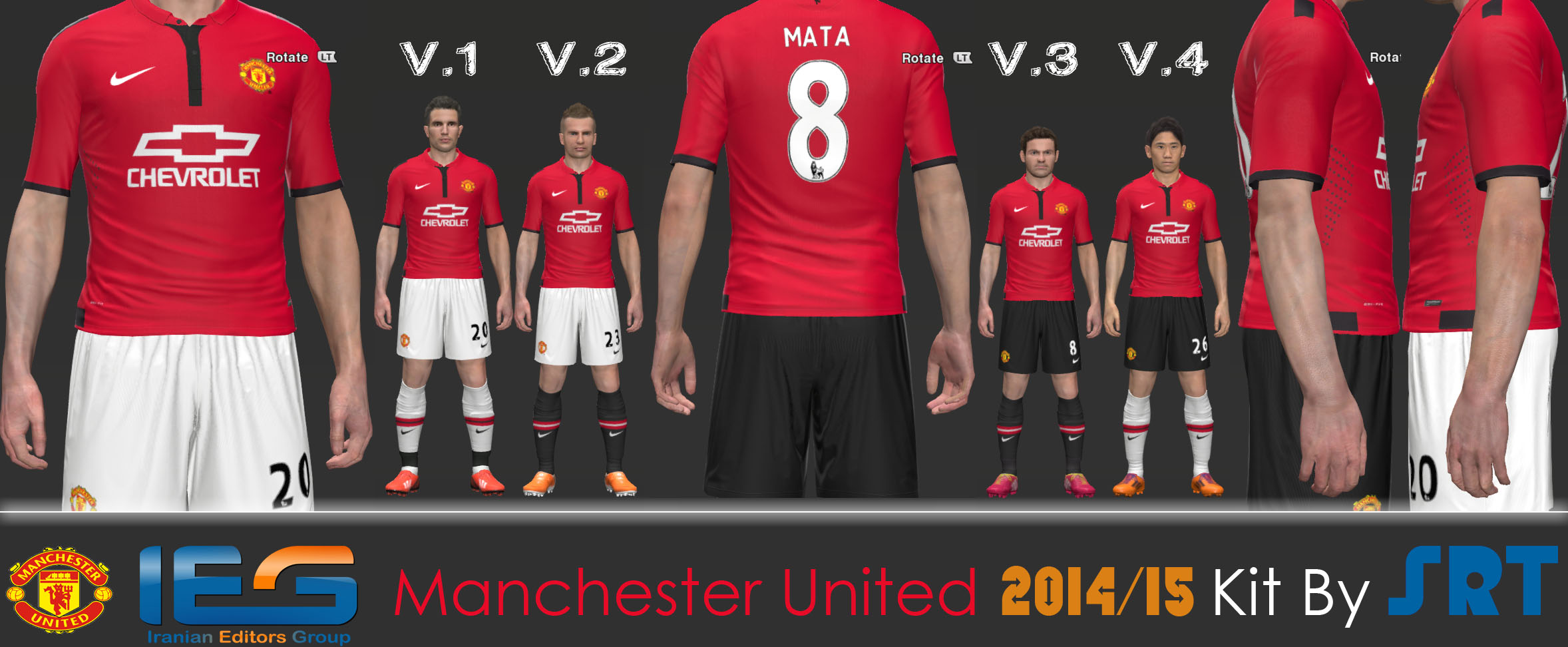PES 2014 Manchester United 2014-2015 Kits PreviewManchester United 2014 Away Kit