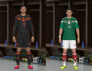 PES 2014 Mexico WC 2014 Home Kit