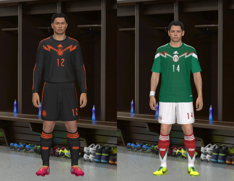 Pes 2014 Mexico Wc 2014 Home Kit By Abiel Pespatchs