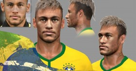 PES 2014 Neymar jr last Face in World Cup 2014