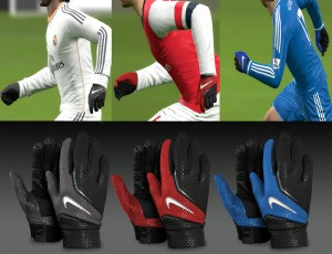 PES 2014 Nike player gloves pack