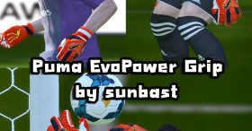 PES 2014 Puma EvoPower Grip (Orange)HD Texture