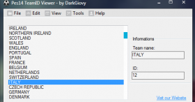 PES 2014 TeamID Viewer Tool