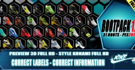 Pack of (31) Boots PES2013 – V1.0 Full HD by kike for PES 2013