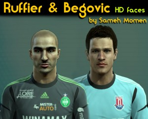 Ruffier& Begovic HD faces by Sameh Momen