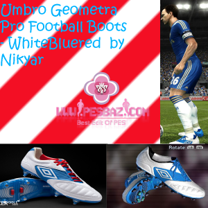 Umbro Geometra Pro Football Boots - WhiteBluered  by Nikyar