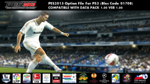 PES 2013 PS3 EU Option File - WENB PES2013 Option File - EU VERSION 
