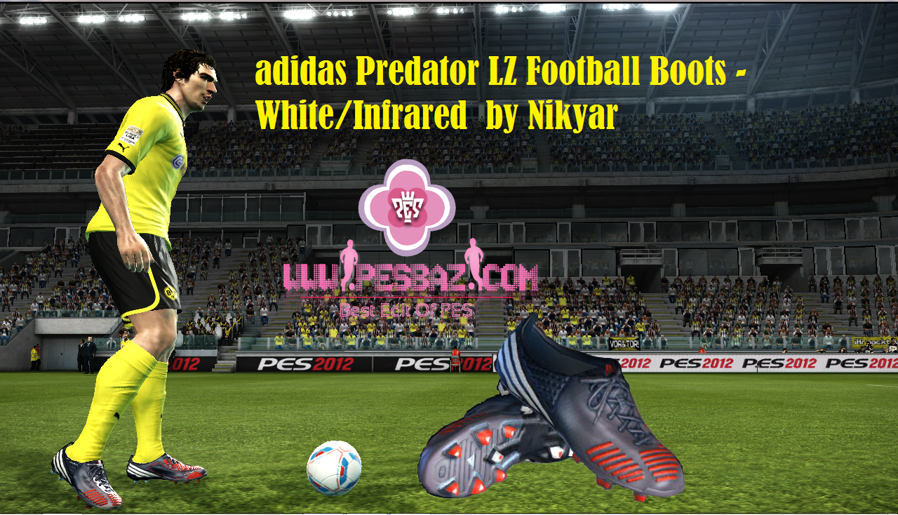 PES 2012 Adidas Predator LZ Boots     Colour  White Infrared Previews