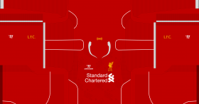 Liverpool 2013-2014 Kit for PES 2014