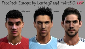 pes 2013 europe facepack