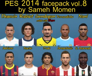 pes 2014 facepack vol.8 by sameh momen