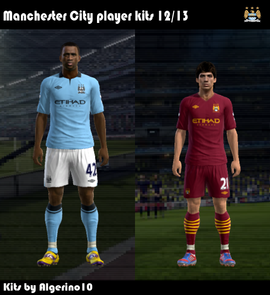 PES 2012 Manchester City 2012 2013 Kit Set Preview