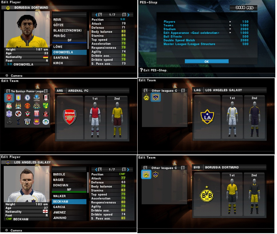 PES 2013 Option File PSP  0 Completed     Up To Date Transfers By