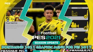 Dortmund 2021 Graphic Menu For PES 2017