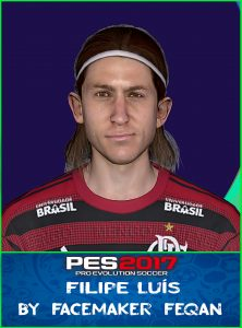 Filipe Luís Face Pes 2017 by Feqan