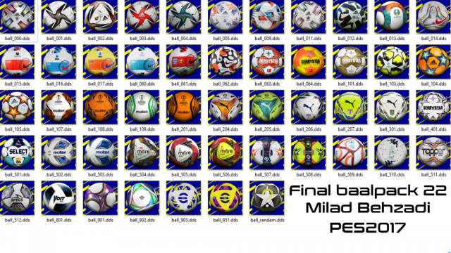 Final 21-22 ballpack for pes2017 by milad Behzadi