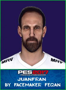 Juanfran Face Pes 2017 by Feqan
