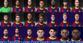 New Barcelona Facepack 2021 For PES 2021
