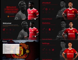 New Menu Manchester United 2022 For Pes2021 By Milad Behzadi