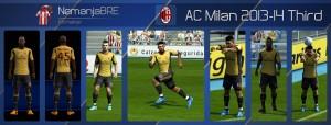 PES 2013 AC Milan 2013-14 Third Kit