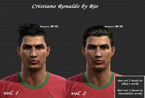 PES 2013 Cristiano Ronaldo Face with New Hair Style