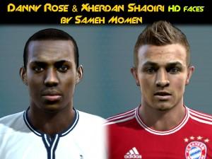 PES 2013 Danny Rose & Xherdan Shaqiri HD Faces