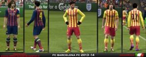 PES 2013 FC Barcelona 2013-14 Kits