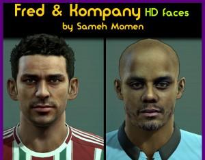 PES 2013 Fred & Kompany HD Faces