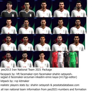 PES 2013 Iran National Team