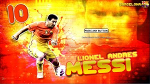 PES 2013 Lionel Messi Start Screen