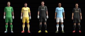 PES 2013 Manchester City 2013-2014 Full Kitset