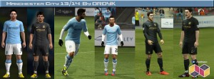 PES 2013 Manchester City 2013-2014 Kits
