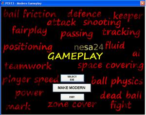 PES 2013 Modern PES v1.0.2.0 Gameplay TOOL