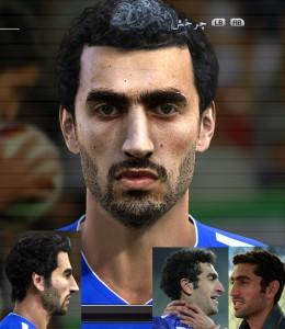 PES 2013 Mojtaba Jabbari Face and Hair