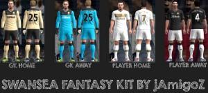 PES 2013 Swansea City Fantasy Kits Full GDB Folder