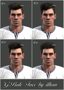 PES 2013 Updated Gareth Bale Face