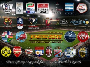 PES 2013 Wave Glossy Logopack for PESEdit Patch 3.5