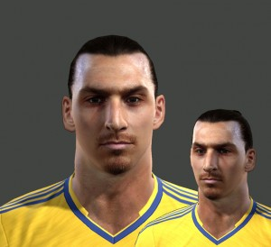 PES 2013 Zlatan Ibrahimovic Face