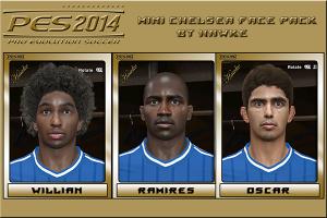 PES 2014 Chelsea Faces [Willian, Ramires, Oscar]