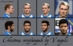 PES 2014 Christmas Minifacepack