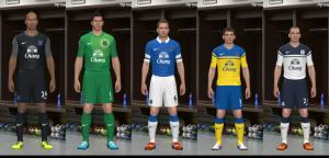 PES 2014 Everton 13-14 Kit Set