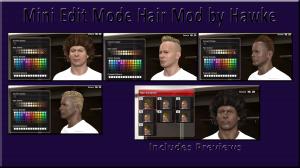 PES 2014 Mini Hair Edit Mode