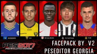 PES 2017 Faces Pack V2 by Peseditor Georgia