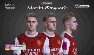 PES 2017 Martin Odegaard Face