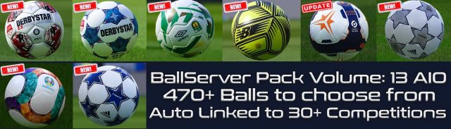 PES 2021 Ball Server Pack by Hawke V13 AIO