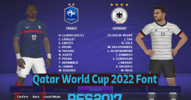 Qatar World Cup 2022 Font For PES 2017